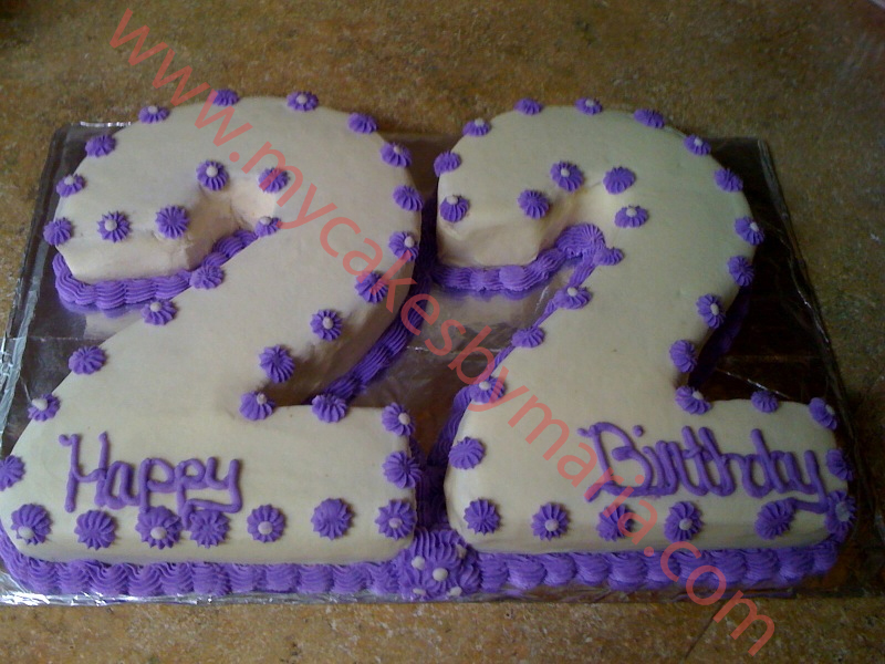 Birthday Cake Pictures Numbers : Cakes By Maria - Number & Letter Cakes